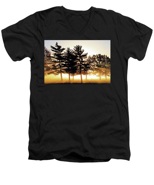 Missouri Tree Line Men's V-Neck T-Shirt by Christopher McKenzie