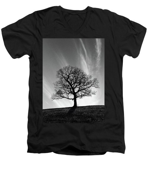 Missouri Treescape Men's V-Neck T-Shirt by Christopher McKenzie