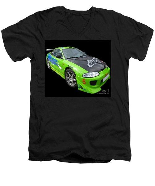 Mitsubishi Eclipse Men's V-Neck T-Shirt