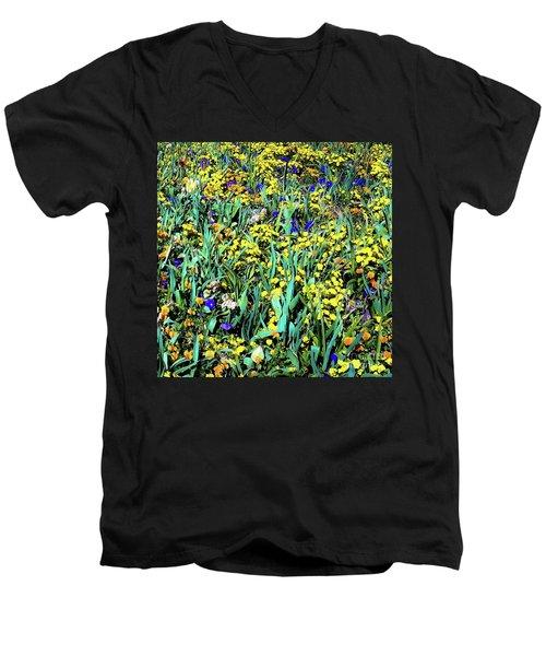 Mixed Flower Garden 515 Men's V-Neck T-Shirt
