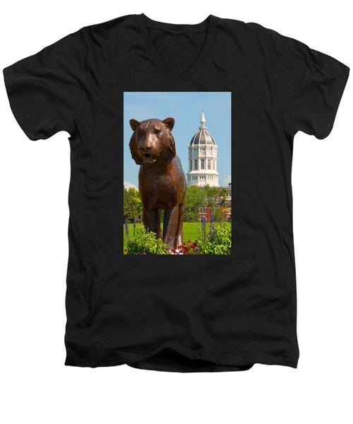 Mizzou Men's V-Neck T-Shirt by Steve Stuller