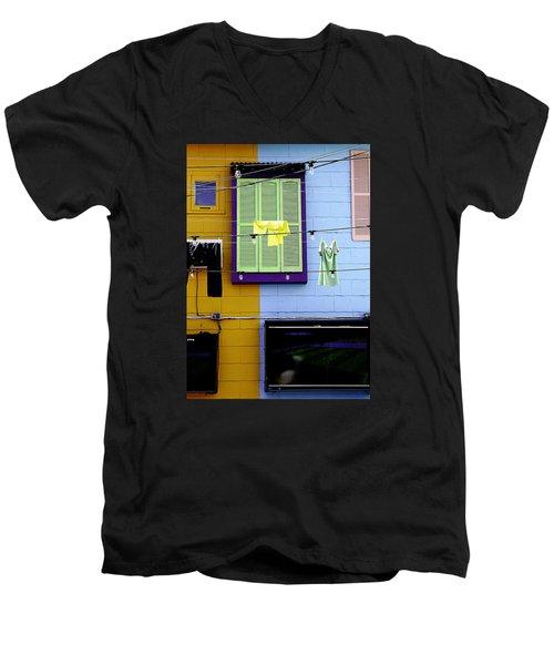 Mke Brz Men's V-Neck T-Shirt by Michael Nowotny
