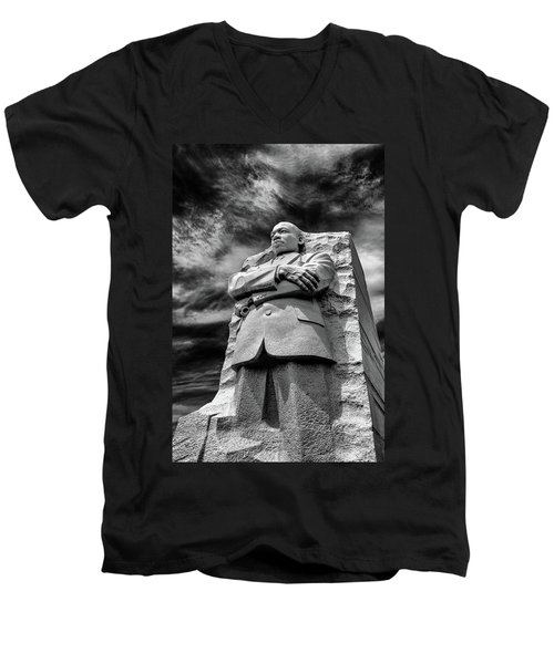 Mlk Memorial Men's V-Neck T-Shirt by Paul Seymour
