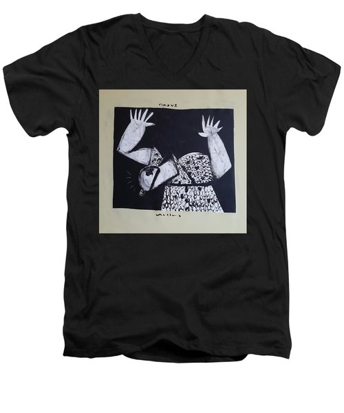 Mmxvii Warning  Men's V-Neck T-Shirt