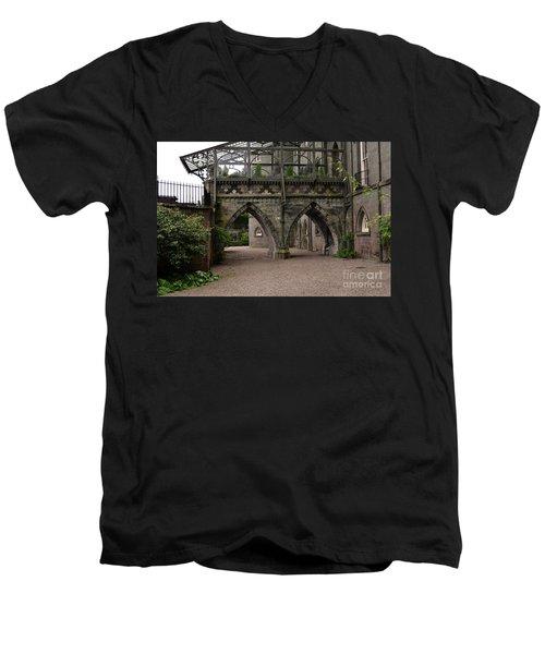 Moat At Inveraray Castle In Argyll Men's V-Neck T-Shirt