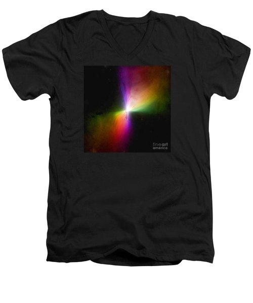 Modern Art- The Boomerang Nebula - Heavenly Bodies Men's V-Neck T-Shirt