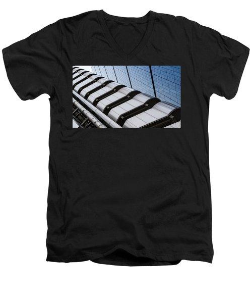 Lloyds Building Bank In London Men's V-Neck T-Shirt