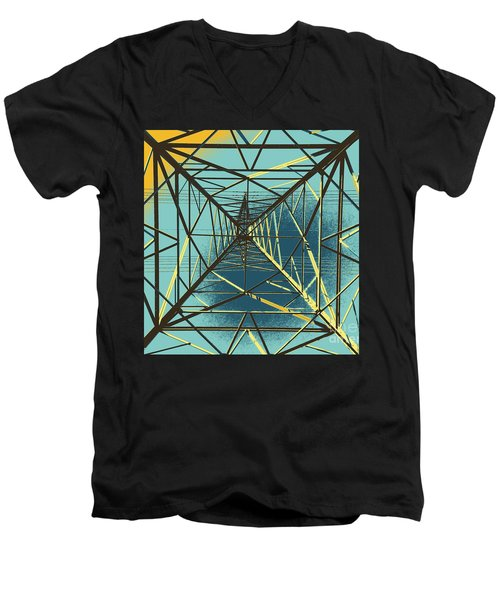 Modern Pyramid Men's V-Neck T-Shirt
