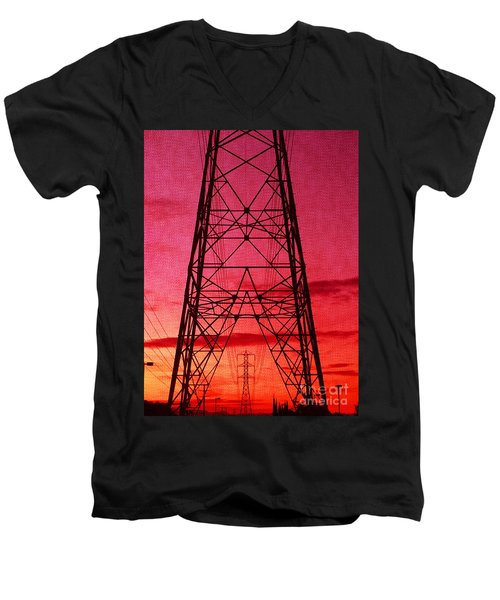 Modern Sunset Men's V-Neck T-Shirt