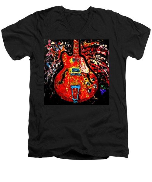 Modern Vintage Guitar Men's V-Neck T-Shirt