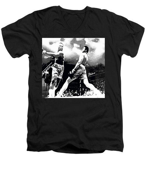 Mohamed Ali Float Like A Butterfly Men's V-Neck T-Shirt by Saundra Myles