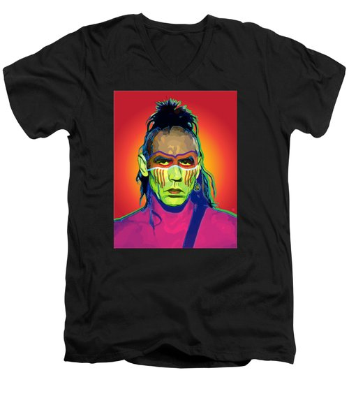 Mohawk Men's V-Neck T-Shirt by Gary Grayson