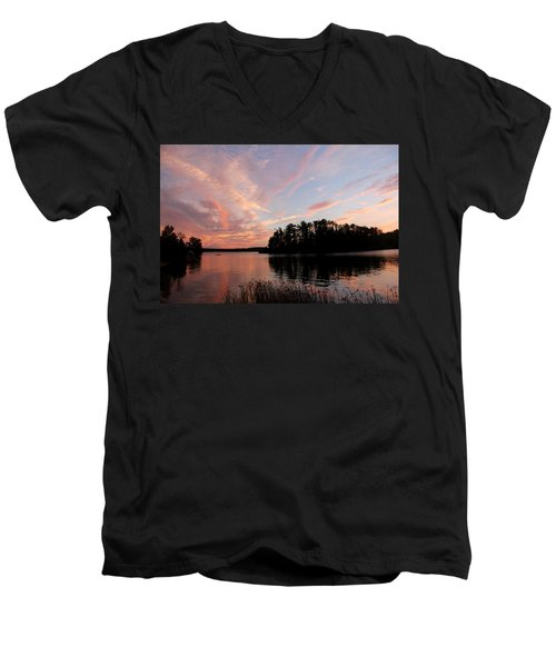 Mohawk Island Aglow Men's V-Neck T-Shirt
