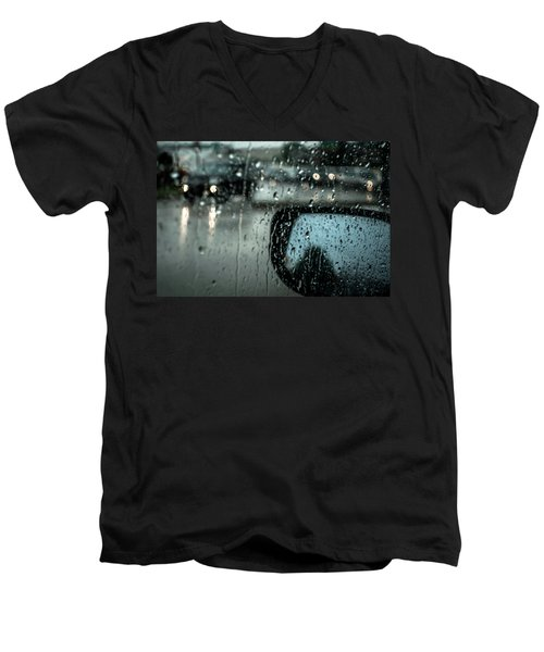 Men's V-Neck T-Shirt featuring the photograph Moisture by David Sutton