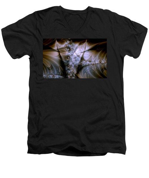 Molecular Cacao Men's V-Neck T-Shirt by Casey Kotas