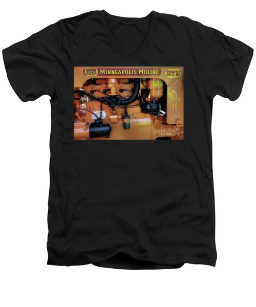 Moline Engine Men's V-Neck T-Shirt by Michael Eingle