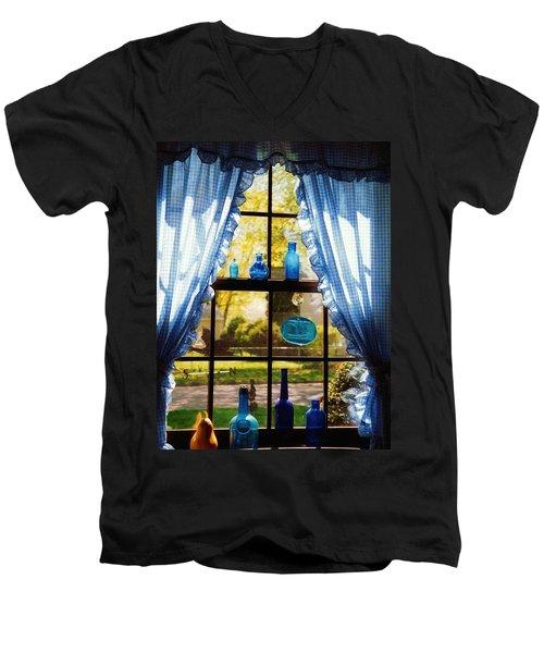 Mom's Kitchen Window Men's V-Neck T-Shirt