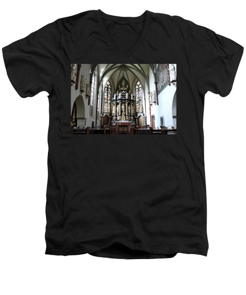 Monastery Church Oelinghausen, Germany Men's V-Neck T-Shirt