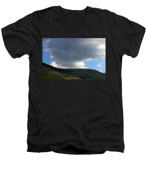 Mongolian Sky Men's V-Neck T-Shirt by Diane Height