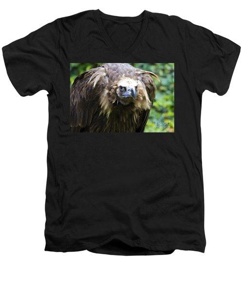 Monk Vulture 3 Men's V-Neck T-Shirt by Heiko Koehrer-Wagner