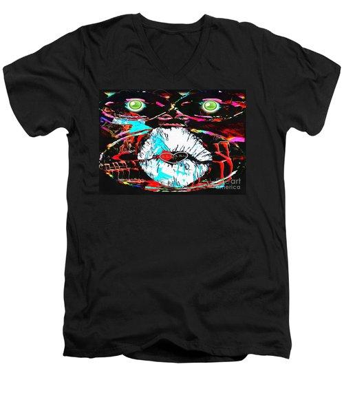 Monkey Works Men's V-Neck T-Shirt by Catherine Lott