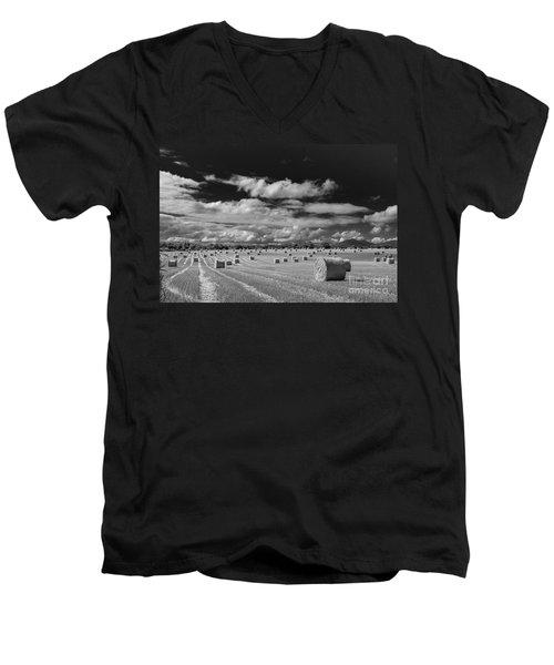Mono Straw Bales Men's V-Neck T-Shirt