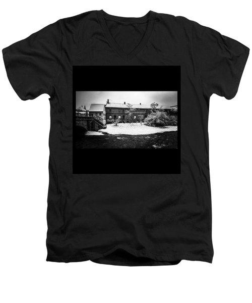#monochrome #blackandwhite #bnw Und Men's V-Neck T-Shirt by Mandy Tabatt