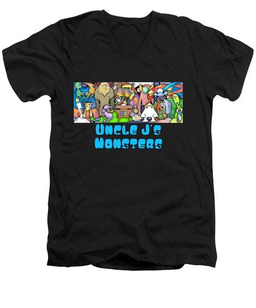 Monster Banner Men's V-Neck T-Shirt by Uncle J's Monsters