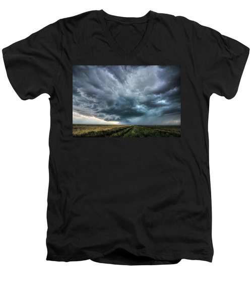 Montana Thunderstorm Men's V-Neck T-Shirt