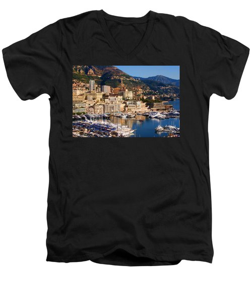 Monte Carlo Men's V-Neck T-Shirt by Tom Prendergast