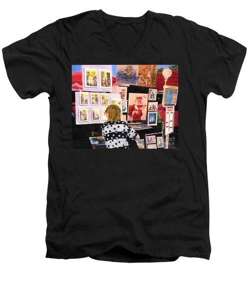 Montmartre Circa 1977 Men's V-Neck T-Shirt