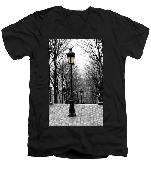 Montmartre Men's V-Neck T-Shirt by Diana Haronis