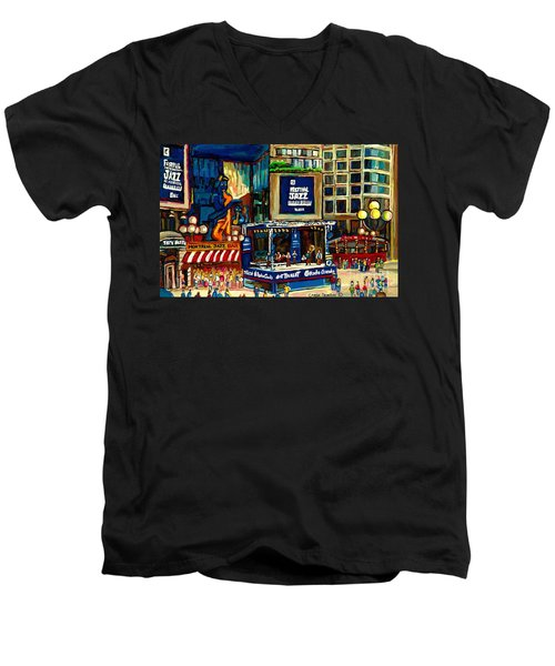 Montreal International Jazz Festival Men's V-Neck T-Shirt