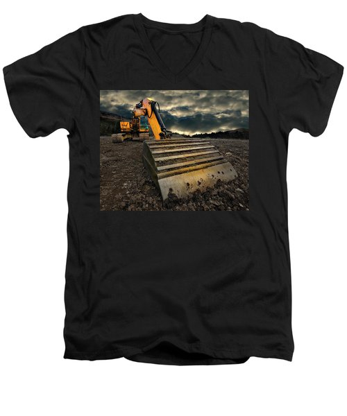 Moody Excavator Men's V-Neck T-Shirt