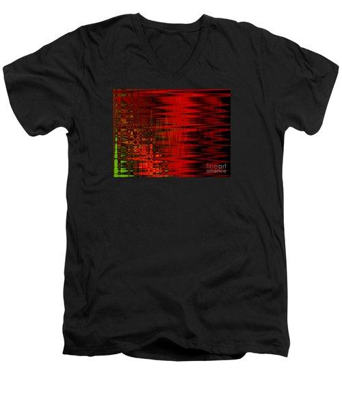 Moody Red Men's V-Neck T-Shirt