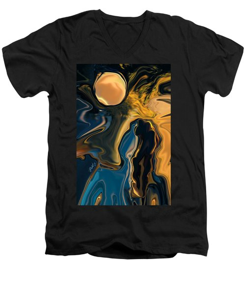 Moon And Fiance Men's V-Neck T-Shirt