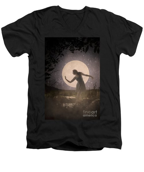 Moon Dance 001 Men's V-Neck T-Shirt