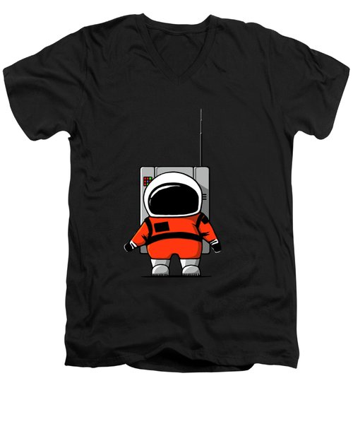 Moon Man Men's V-Neck T-Shirt
