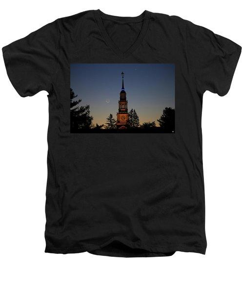 Moon, Venus, And Miller Tower Men's V-Neck T-Shirt
