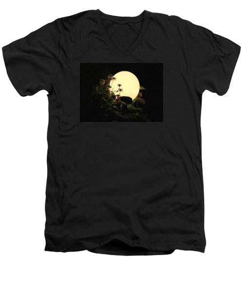 Moonglow Thistles Men's V-Neck T-Shirt