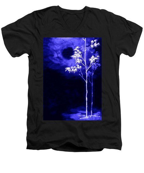 Moonlight Bamboo Men's V-Neck T-Shirt by Lanjee Chee