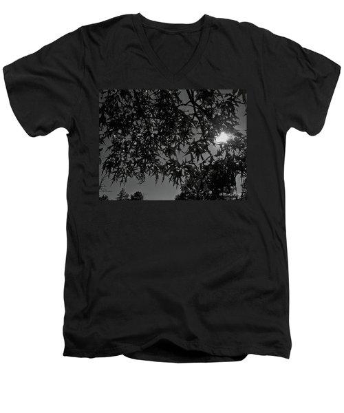 Men's V-Neck T-Shirt featuring the photograph Moonlight by Betty Northcutt