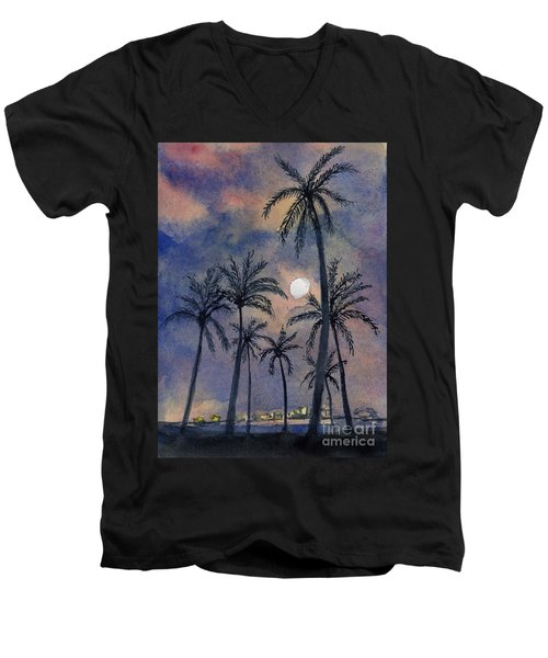 Moonlight Over Key West Men's V-Neck T-Shirt