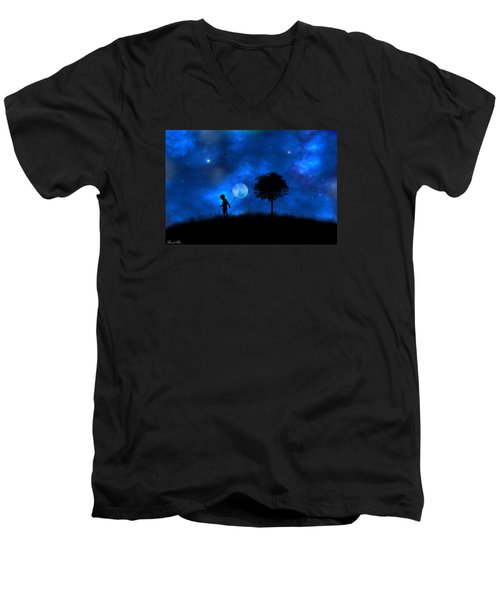 Moonlight Shadow Men's V-Neck T-Shirt