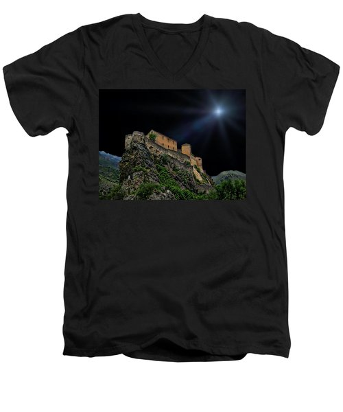 Moonlit Castle Men's V-Neck T-Shirt