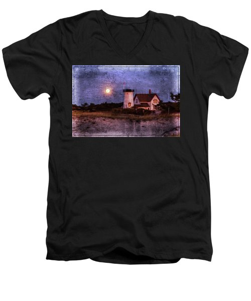 Moonlit Harbor Men's V-Neck T-Shirt
