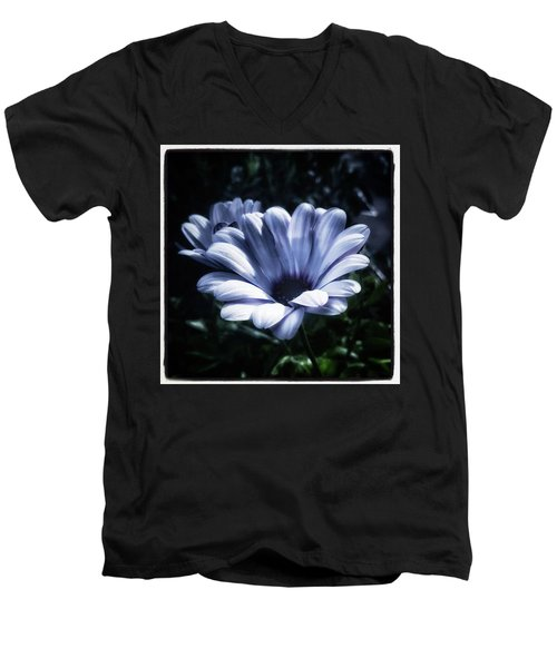 Men's V-Neck T-Shirt featuring the photograph Moonlit Petals. From The Beautiful by Mr Photojimsf