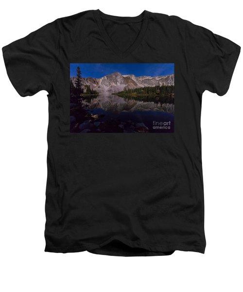 Moonlit Reflections  Men's V-Neck T-Shirt