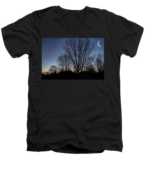 Moonlit Sunrise Men's V-Neck T-Shirt
