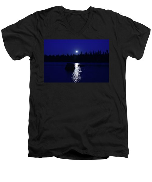 Moonrise On A Midsummer's Night Men's V-Neck T-Shirt